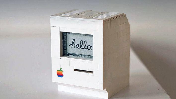 LEGO-Macintosh: Programmierer Jannis Hermanns hat einen funktionsfähigen Mini-Mac aus Spielzeugsteinen gebaut - Foto: jann.is