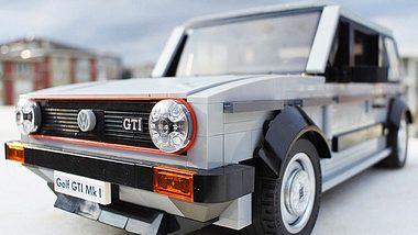 Der Prototyp aus Lego: Kommt der Golf 1 GTI als Legobausatz in den Handel? - Foto: Hasan Kabalak