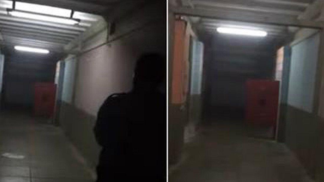 Leichenhalle: Schlägt ein Geist diese Tür in einem brasilianischen Leichenschauhaus zu?