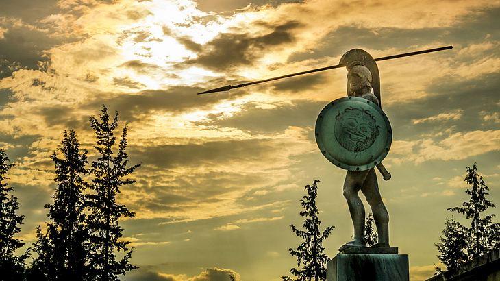 Leonidas-Statue bei den Thermopylen, Griechenland