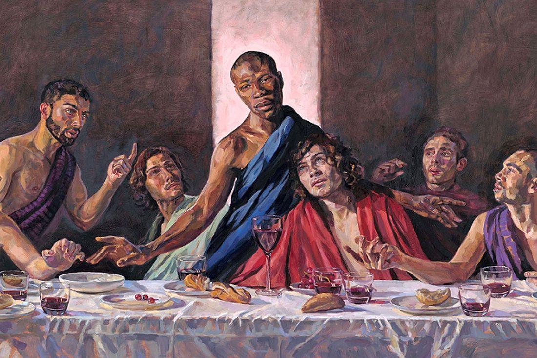 Schwarzer Jesus in Gemälde