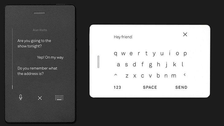 Light Phone 2 - Textnachrichten