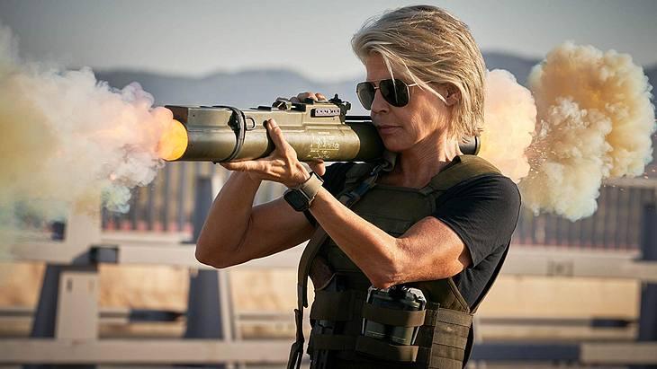 """Linda Hamilton als Sarah Connor in """"Terminator 6"""""""
