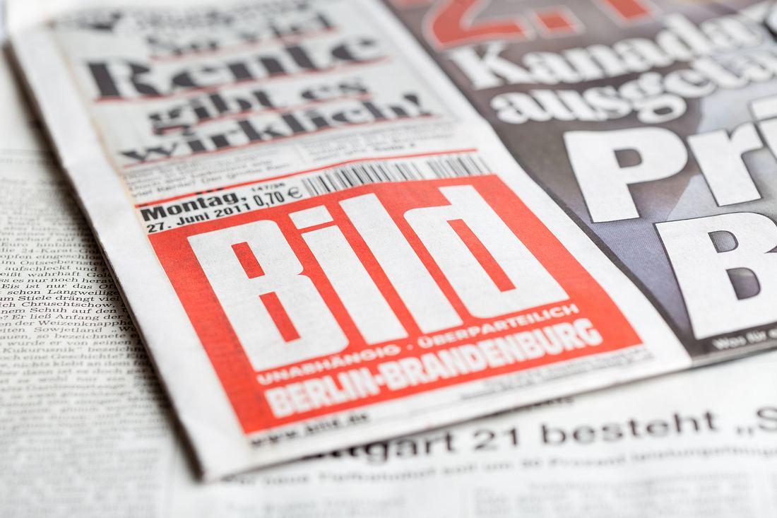 Titelblatt einer Bild-Zeitung