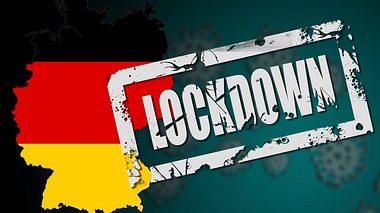 Deutschland-Karte mit Lockdown-Stempel - Foto: iStock / tang90246