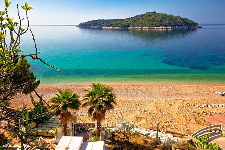 Die Insel Lokrum vor Dubrovnik.
