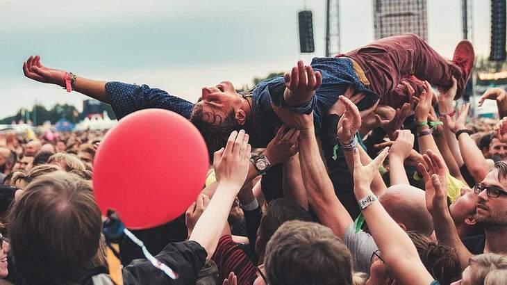 Crowdsurfing auf dem Lollapalooza