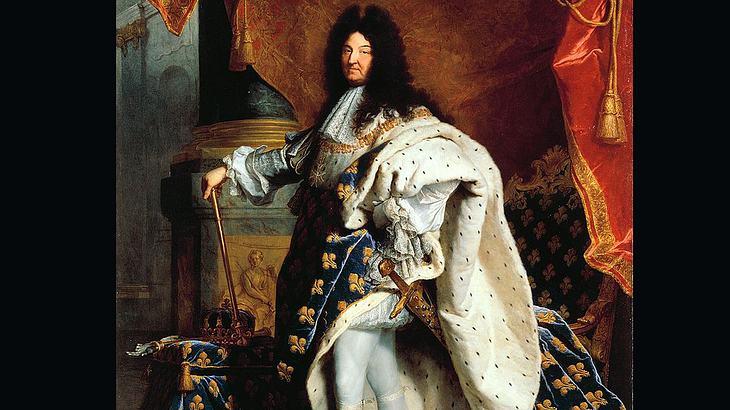 Ludwig XIV. im Krönungsornat (Porträt von Hyacinthe Rigaud, 1701)