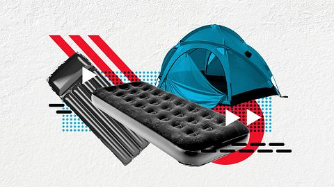 Luftmatratze fürs Camping - Foto: iStock / MileA; iStock / fcafotodigital; iStock / evemilla