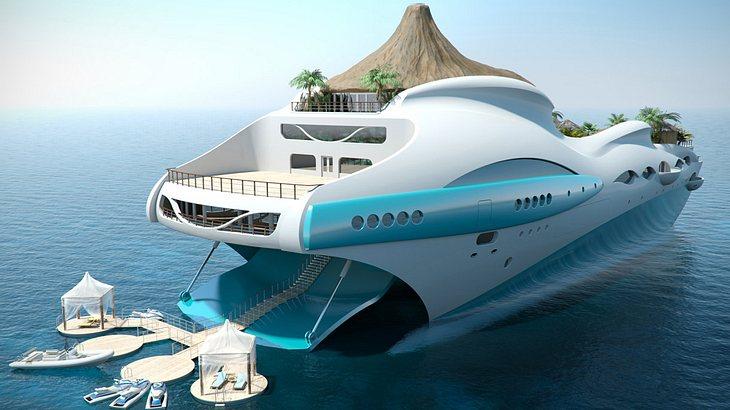 dieses luxus-schiff ist yacht und tropische insel in einem, Wohnideen design