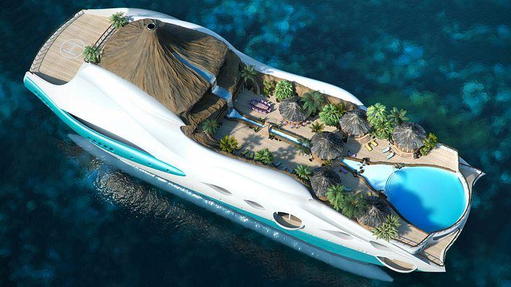 Teuerste luxusyacht der welt  Dieses Luxus-Schiff ist Yacht und tropische Insel in einem