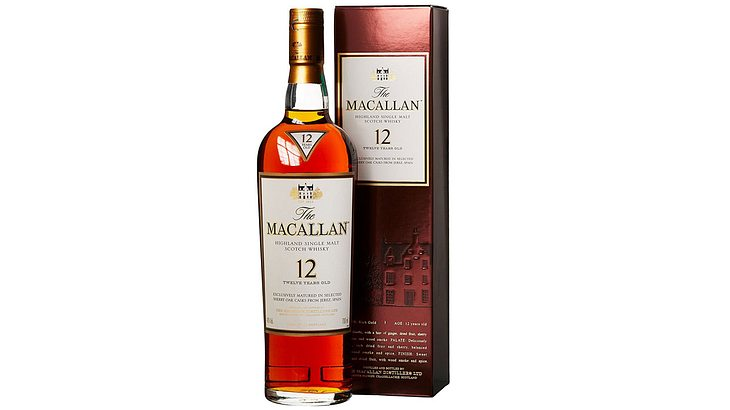 Macallan Highland Single Malt Scotch 12 Years old