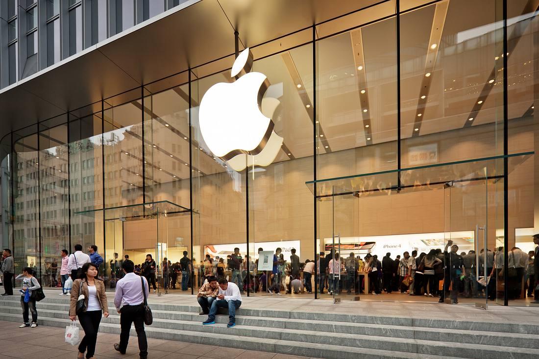 Außenansicht eines Apple Stores