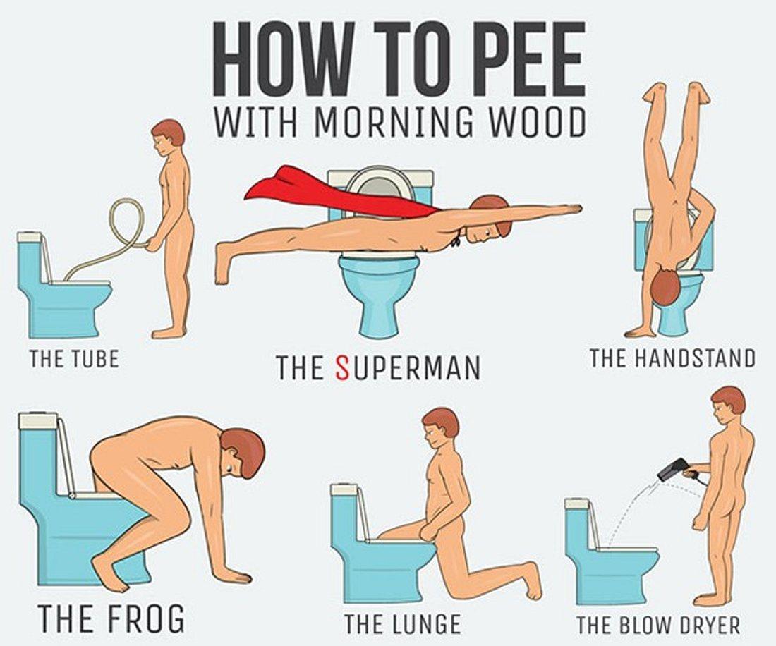 Aus hose der hängt penis Der Moment
