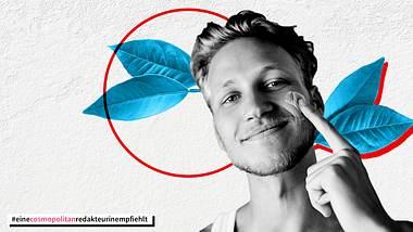 Mann cremt sein Gesicht - Foto: iStock/Natalia Samorodskaia/PeopleImages