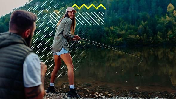 Mann und Frau beim Angeln - Foto: iStock : Dimensions, Collage bearbeitet von Männersache
