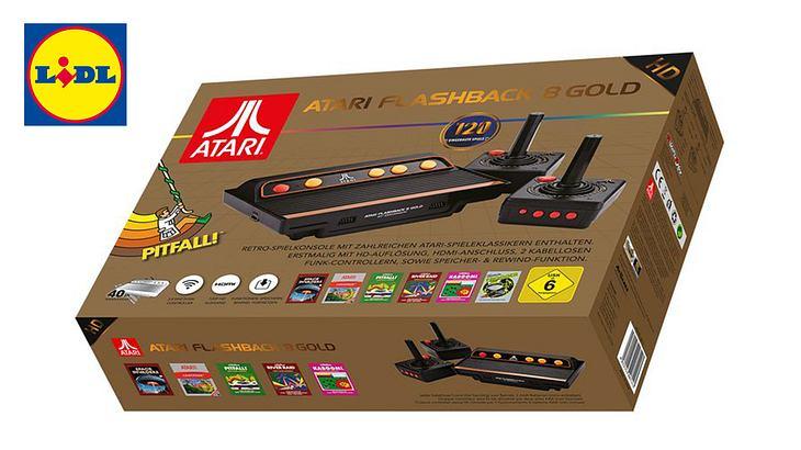 Die Atari Flashback 8 Gold HD Retro Spielekonsole von Lidl.