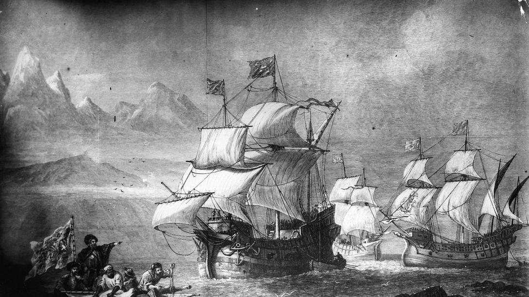 Magellan auf dem Weg, die Welt zu umrunden - Foto: Getty Images / Hulton Archive