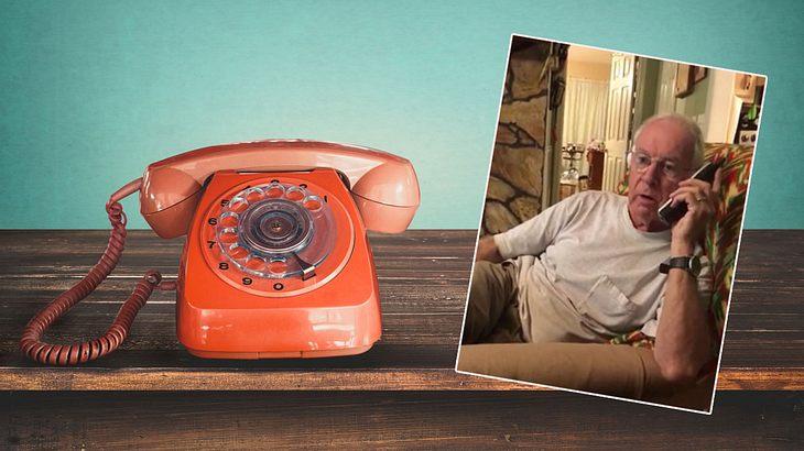 Ein Mann bekommt einen Werbeanruf, dann ... (Collage)