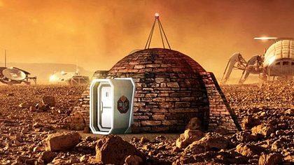 Video: So könnten Häuser auf dem Mars aussehen