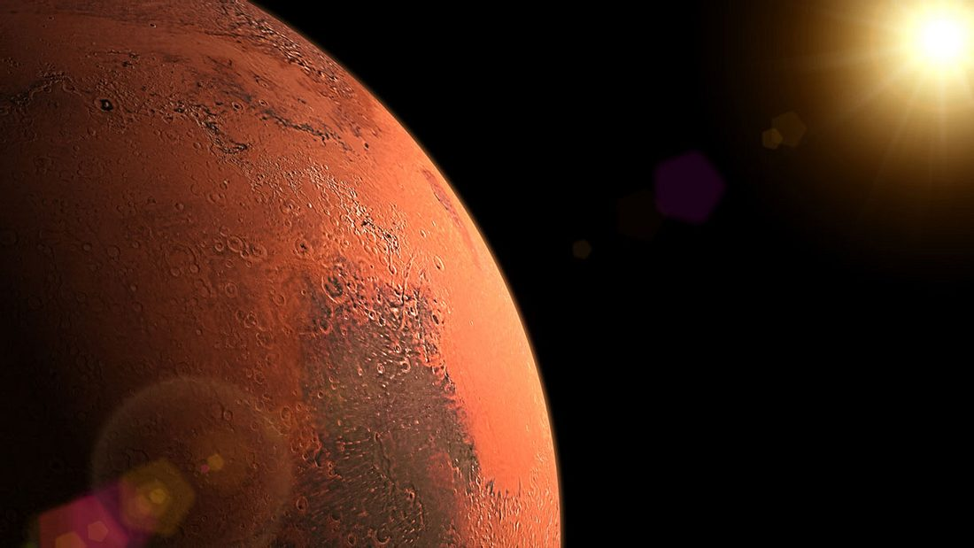 Die Sonne begrüßt den Mars
