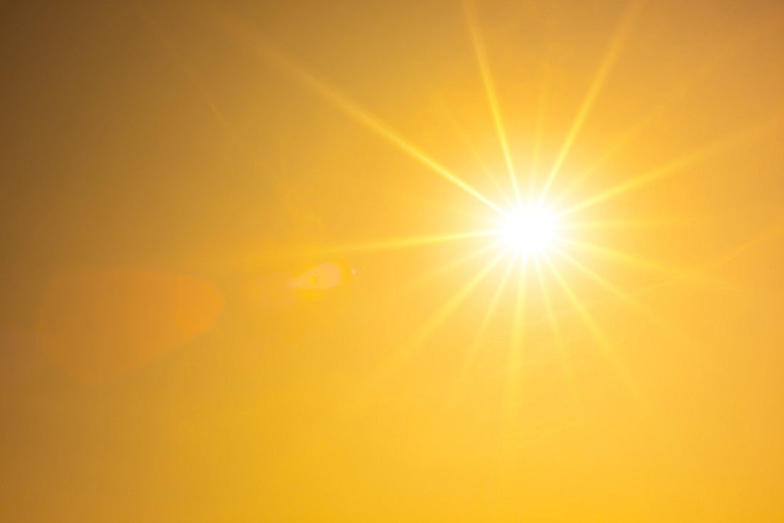 Massive Sonneneinstrahlung