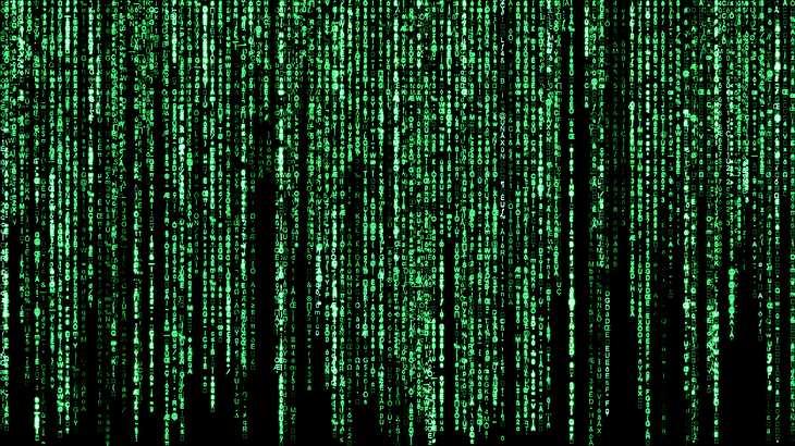 """Der grüne Code aus dem Film """"Matrix"""""""