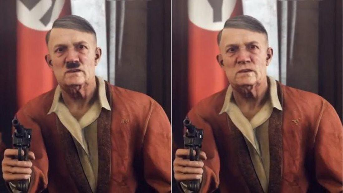 Hitler zensiert ohne Bart