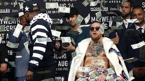MayMac: Mayweather bewirft McGregor mit Geld