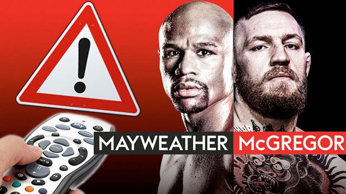 Mayweather vs. McGregor: Wer den Mega-Fight illegal gestreamt hat, drohen rechtliche Konsequenzen