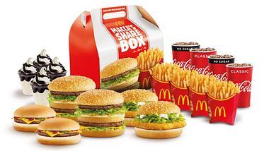 Für Familien: McDonalds startet mit dem Verkauf von Mega-Menüs - Foto: McDonalds