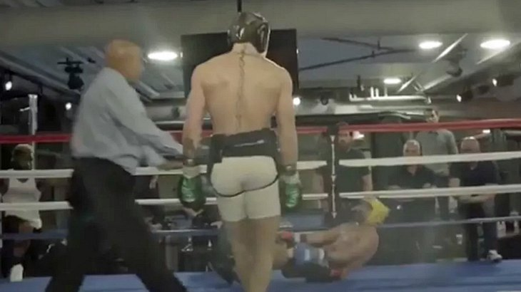 Conor McGregor im Sparring gegen Ex-Weltmeister Paulie Malignaggi