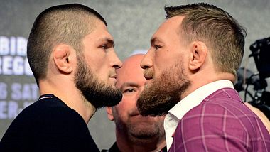 Khabib Nurmagomedov und Conor McGregor. - Foto: Getty Images/Steven Ryan