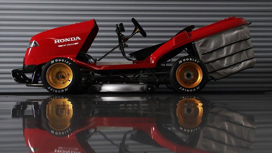 Honda schnellster Rasenmäher Weltrekord 190 PS 240 kmh
