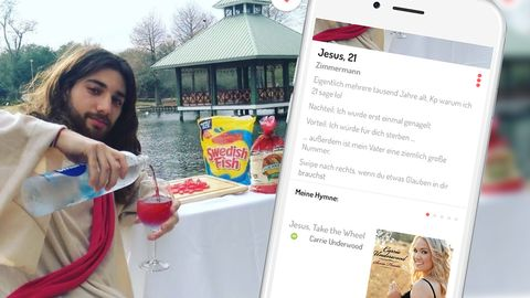 Ein US-Student hat sich als Jesus auf der Dating-App Tinder angemeldet - mit durchschlagendem Erfolg - Foto: Tinder