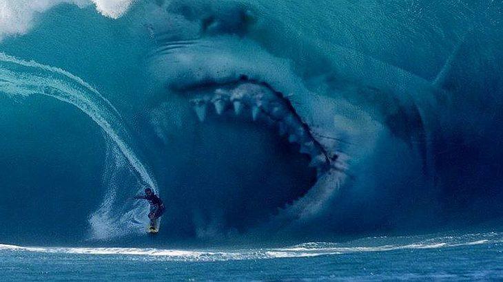 Megalodon attackiert Surfer