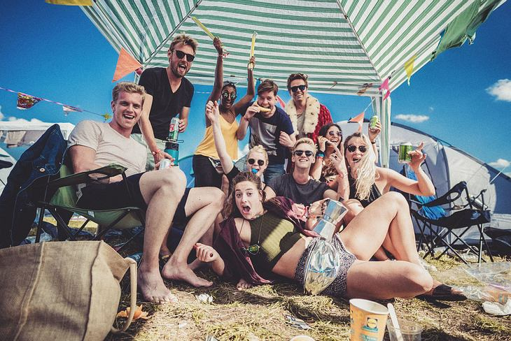 Gehört zum Festival dazu: Das Campen