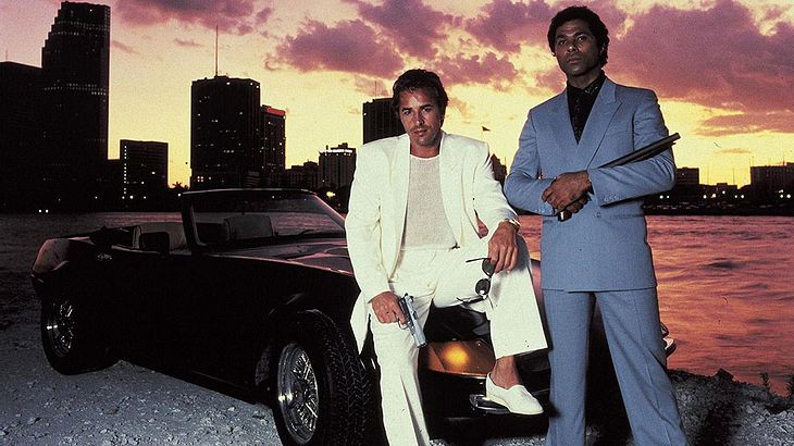 "Don Johnson und Philip Michael Thomas in ""Miami Vice"""