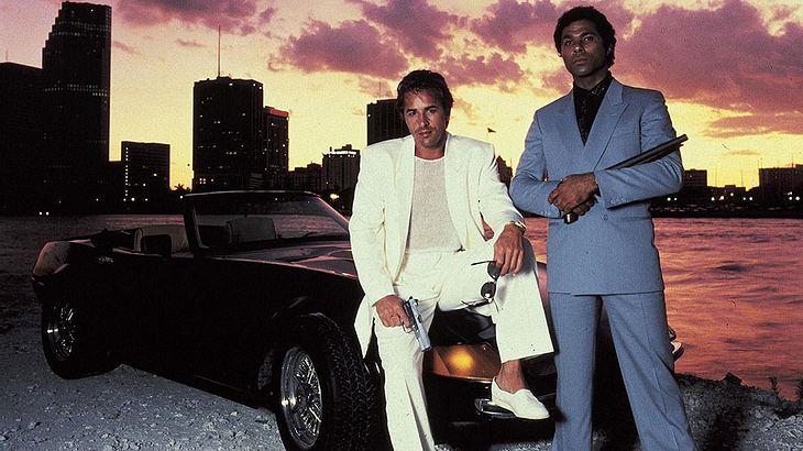 """Don Johnson und Philip Michael Thomas in """"Miami Vice"""""""
