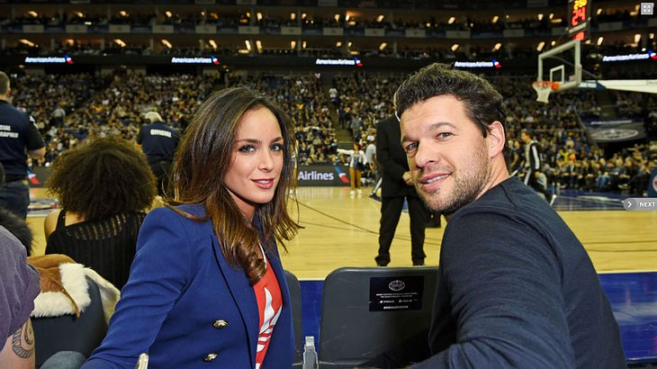 Michael Ballack und Freundin Natacha Tannous  bei der NBA Europe in London