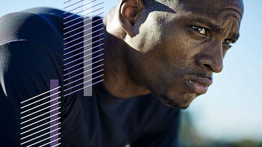 Mann beim Sport - Foto: Getty Images / Patrik Giardino ; Collage / bearbeitet durch maennersache.de