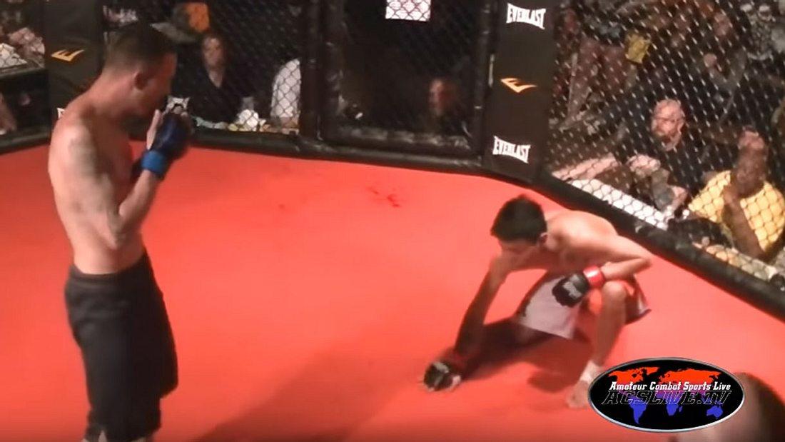 MMA-Fighter Mike Pantangco dominierte den Fliegengewichtskampf nach Belieben - und gab auf!