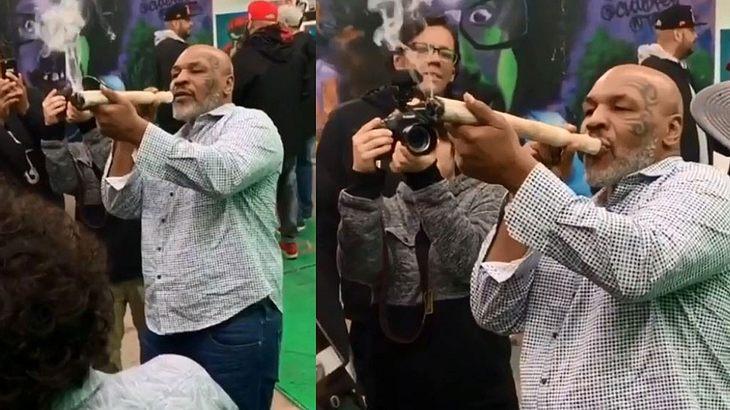 Mike Tyson zieht kräftig einen durch