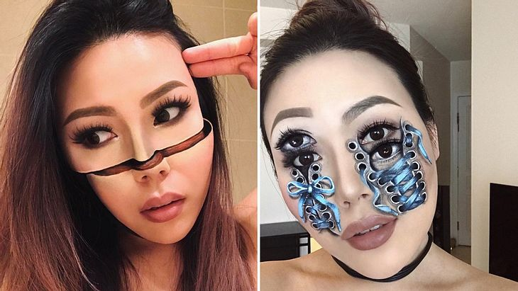 Scary: Dieses Make-up erzeugt Horror-Illusionen