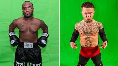 Als Promo für den Mega-Fight: Mini-Mayweather vs. Mini-McGregor