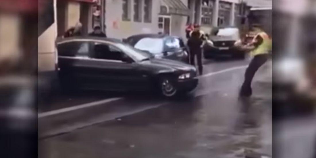 Szene einer Verfolgungsjagd in Berlin