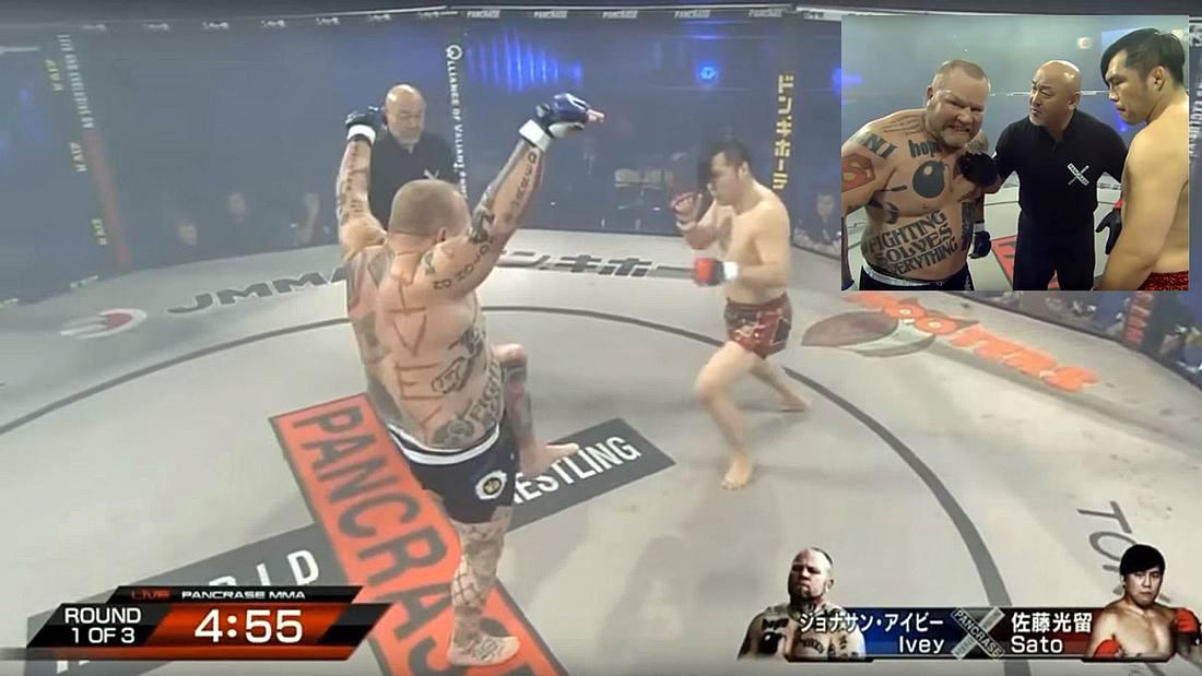 MMA-Fighter Jonathan Ivey verhöhnt seinen Gegner und wird ausgeknockt