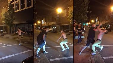 Betrunkener attackiert Türsteher. Doch der ist MMA-Fighter