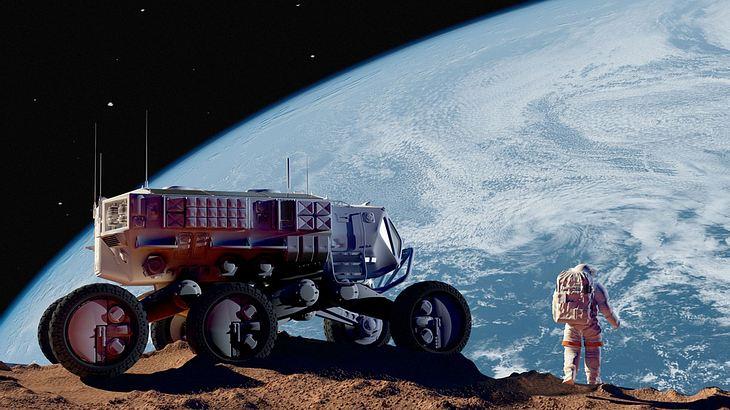 Wie viele Autos parken auf dem Mond?