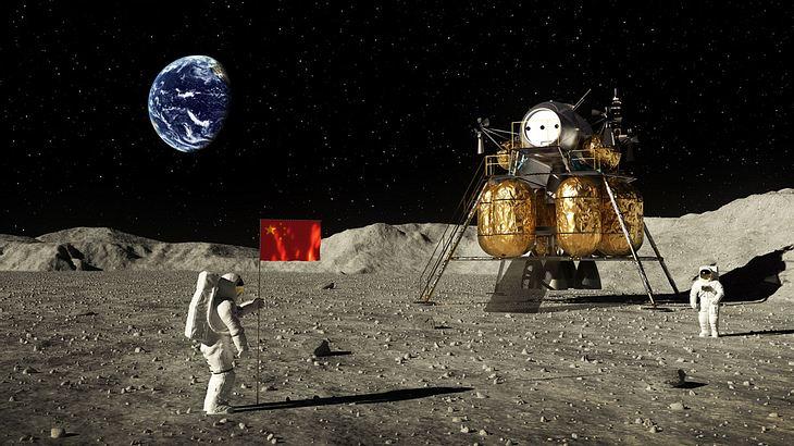 Astronauten auf dem Mond